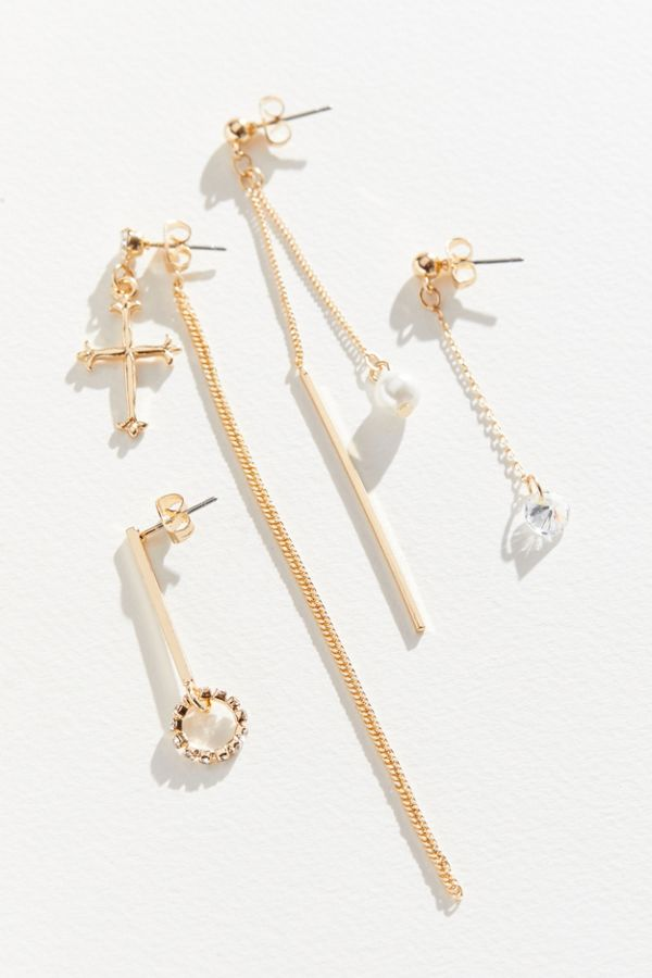 65dcba946 Delicate Cross Mismatch Earring Set | Urban Outfitters