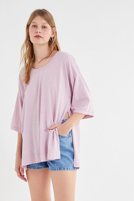 36611b9c2145 Out From Under Tenley Side-Slit Tunic Tee