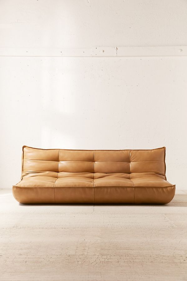 Awe Inspiring Greta Recycled Leather Xl Sleeper Sofa Short Links Chair Design For Home Short Linksinfo