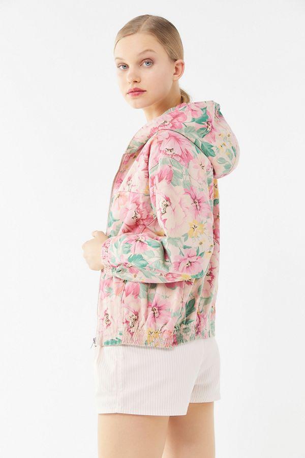 00190b992 BDG Floral Hooded Bomber Jacket