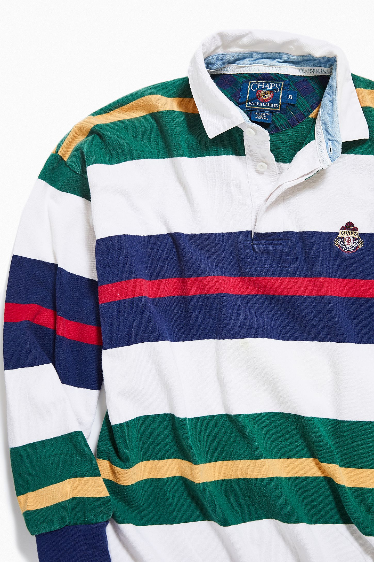 89138fe4850 Vintage Chaps Big Stripe Rugby Shirt | Urban Outfitters