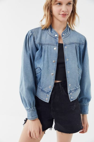 BDG Denim Puff Sleeve Trucker Jacket