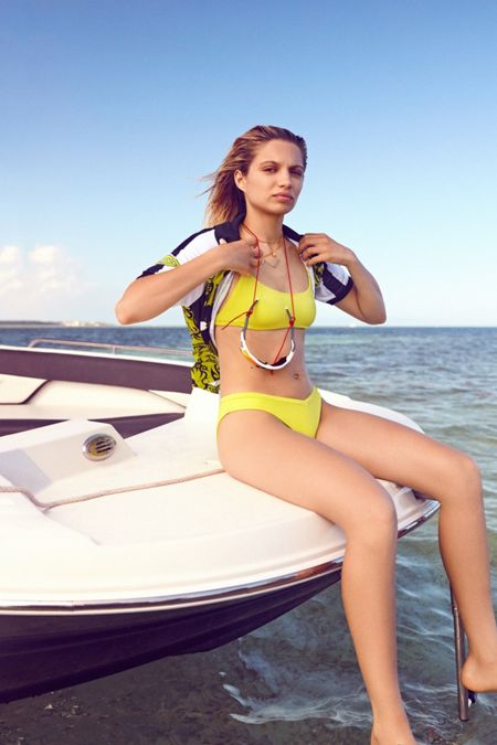 be49908c71 Out From Under Shimmer Safari Scoop Neck Bikini Top
