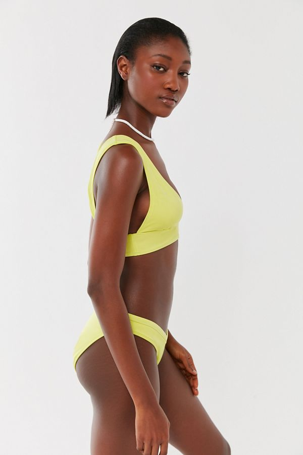 Out From Under Shimmer Deep Plunge Bikini Top by Out From Under