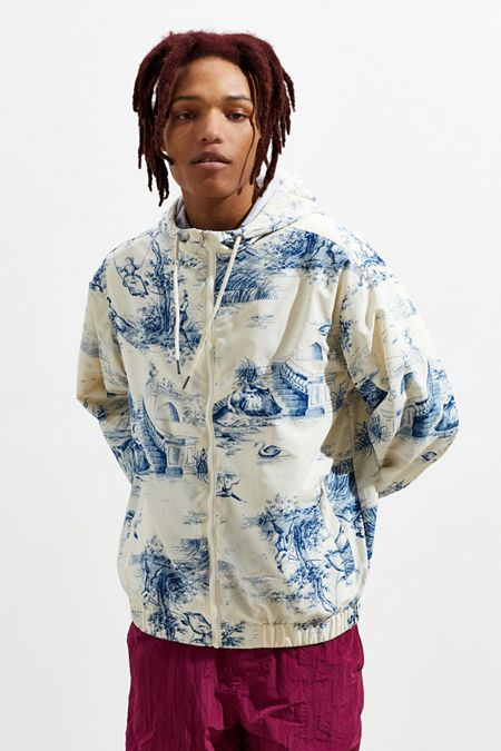 ac3f6b26ec5e UO Nylon Toile Print Windbreaker Jacket