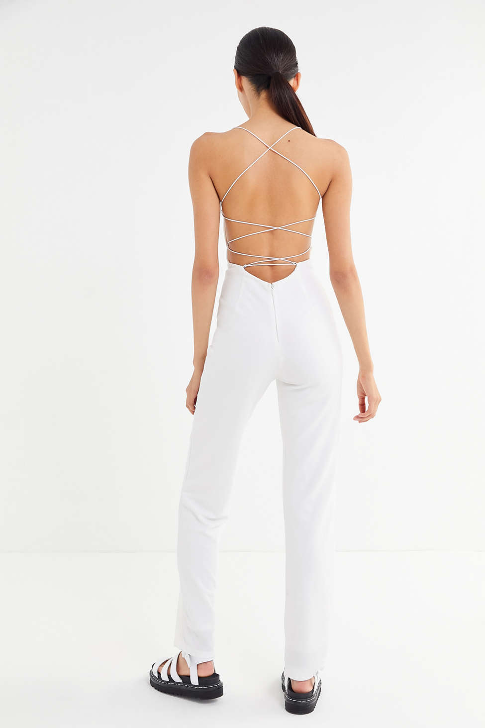 Tiger Mist Blanche Strappy Back Straight Leg Jumpsuit by Tiger Mist