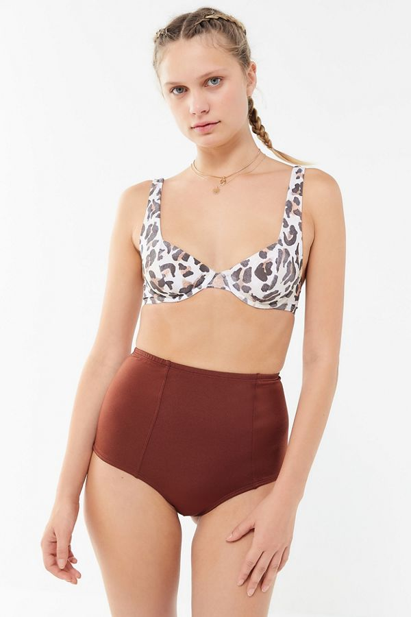 1416aaaa65833 Slide View: 3: Out From Under Shimmer Strappy Back High-Waisted Bikini  Bottom
