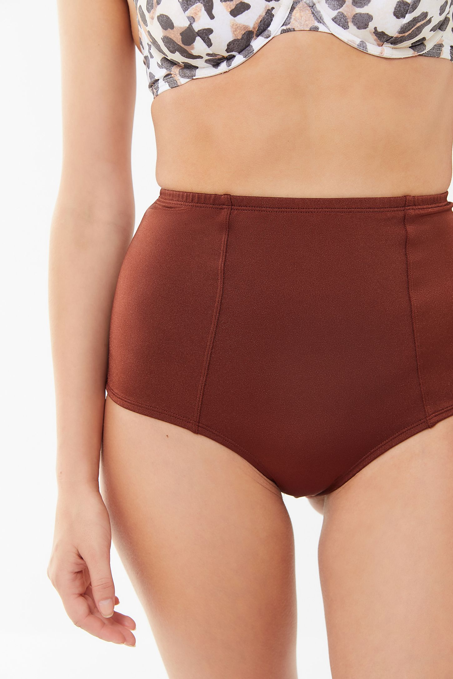 9adbc218b2abf Slide View: 4: Out From Under Shimmer Strappy Back High-Waisted Bikini  Bottom