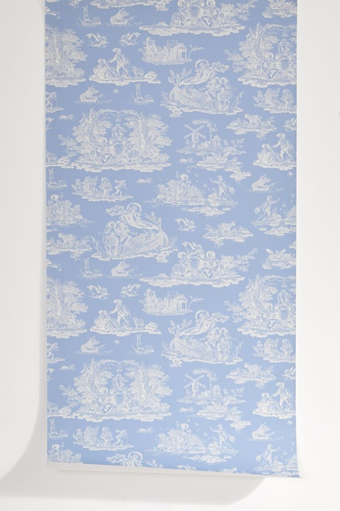 Laura Ashley Uo Exclusive Romance Toile Removable Wallpaper Urban Outfitters
