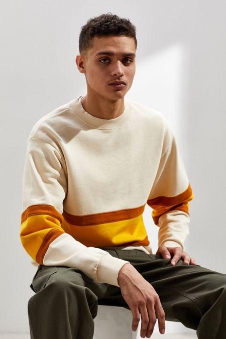 39cf39dd1382 UO Colorblock Crew Neck Sweatshirt