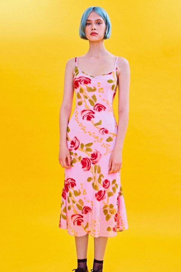 970829f64694 Betsey Johnson UO Excusive Floral Slip Midi Dress   Urban Outfitters