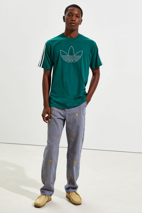 Slide View: 6: T-shirt trèfle Outline d'Adidas