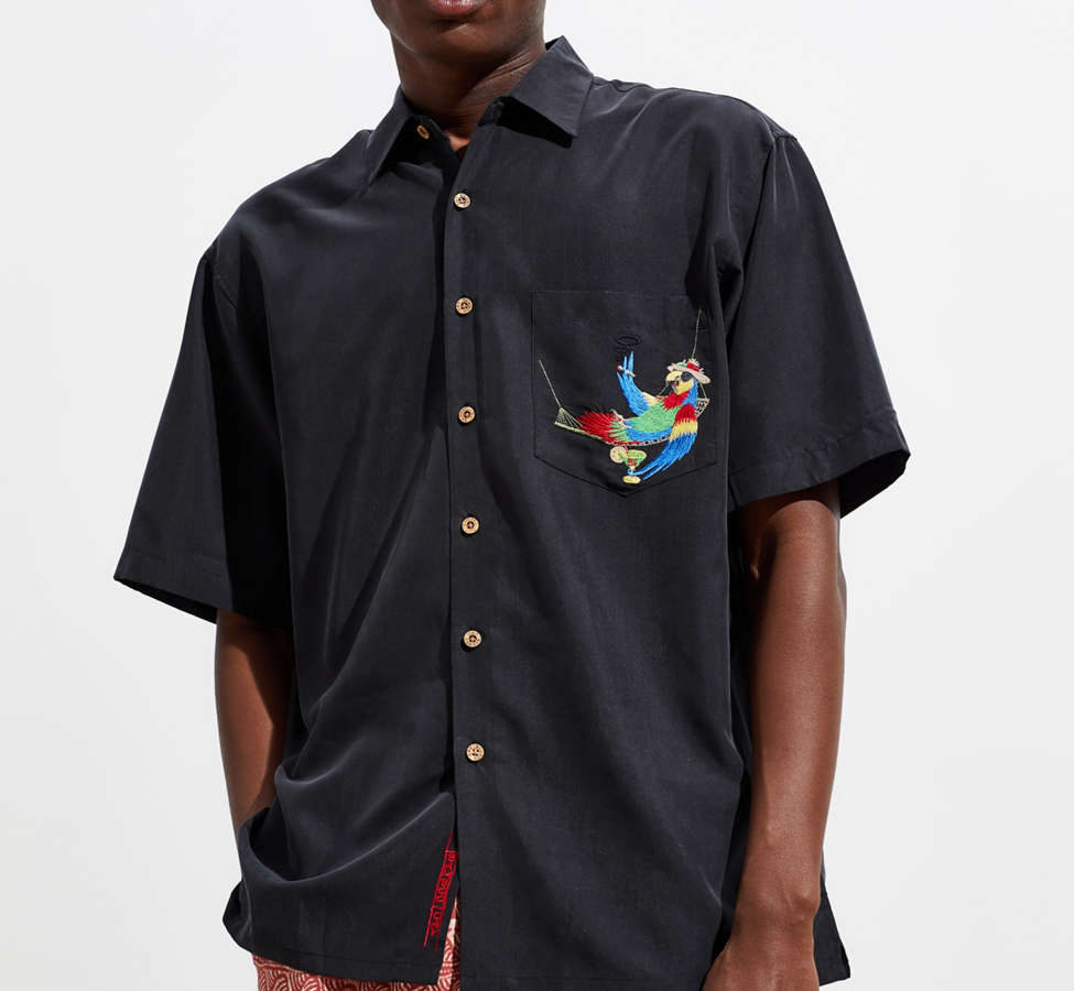 Slide View: 3: Bamboo Cay Always 5 O'Clock Short Sleeve Button-Down Shirt