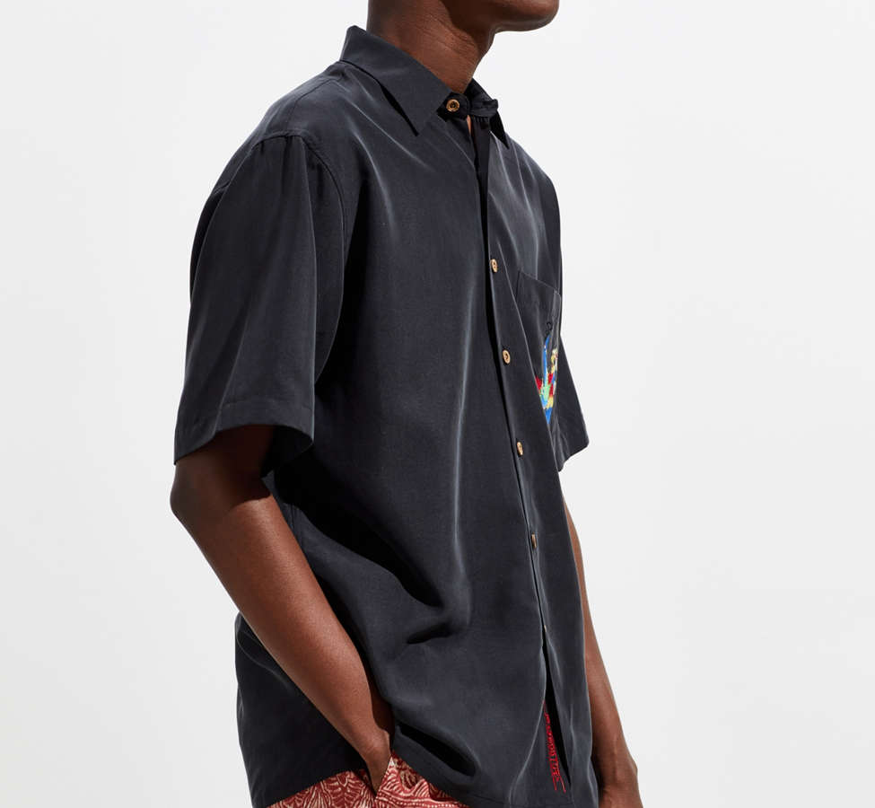 Slide View: 4: Bamboo Cay Always 5 O'Clock Short Sleeve Button-Down Shirt