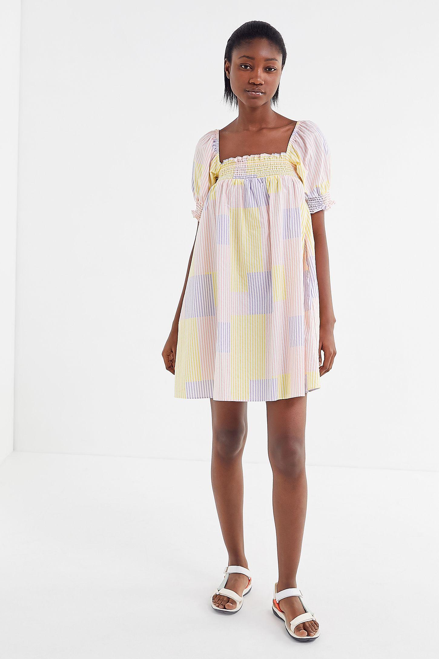 1355bae3d7afa UO Puff Sleeve Babydoll Dress | Urban Outfitters