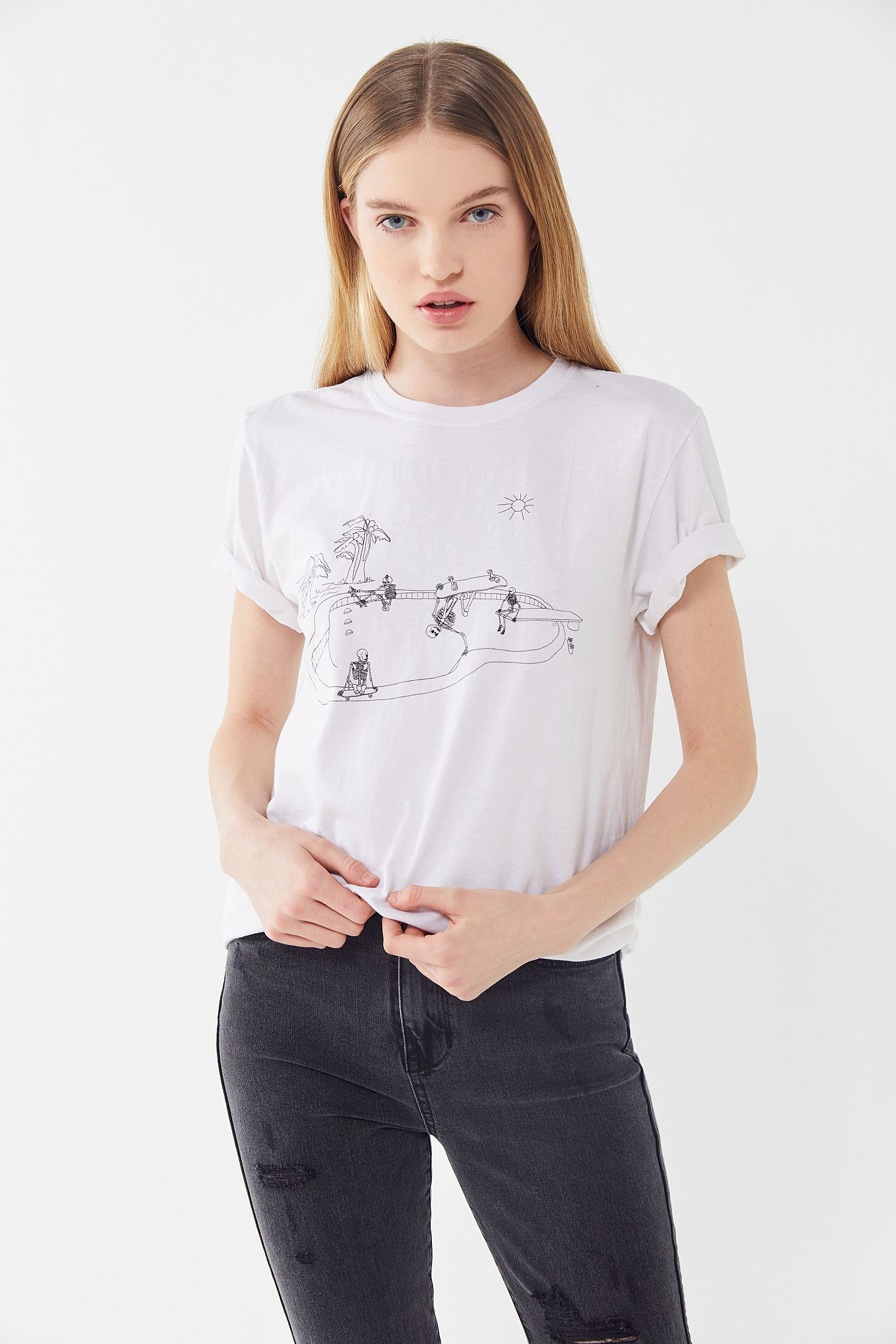 a44e421780b Project Social T Skeleton Buddies Skate Tee | Urban Outfitters