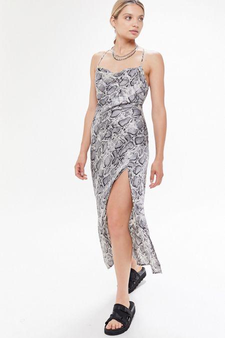 cc00a18896 ASTR The Label Animal Print Cowl Neck Slip Dress