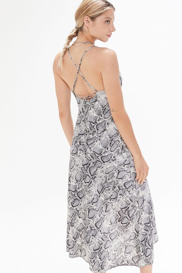 39c8ccc1c66e ASTR The Label Animal Print Cowl Neck Slip Dress | Urban Outfitters