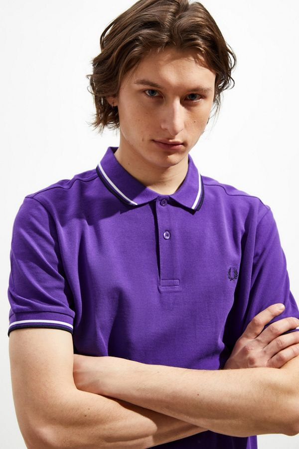 ffefc689d22 Slide View  1  Fred Perry Twin Tipped Polo Shirt