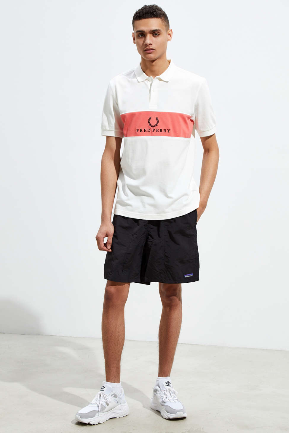 Fred Perry Panel Piped Pique Knit Polo Shirt by Fred Perry