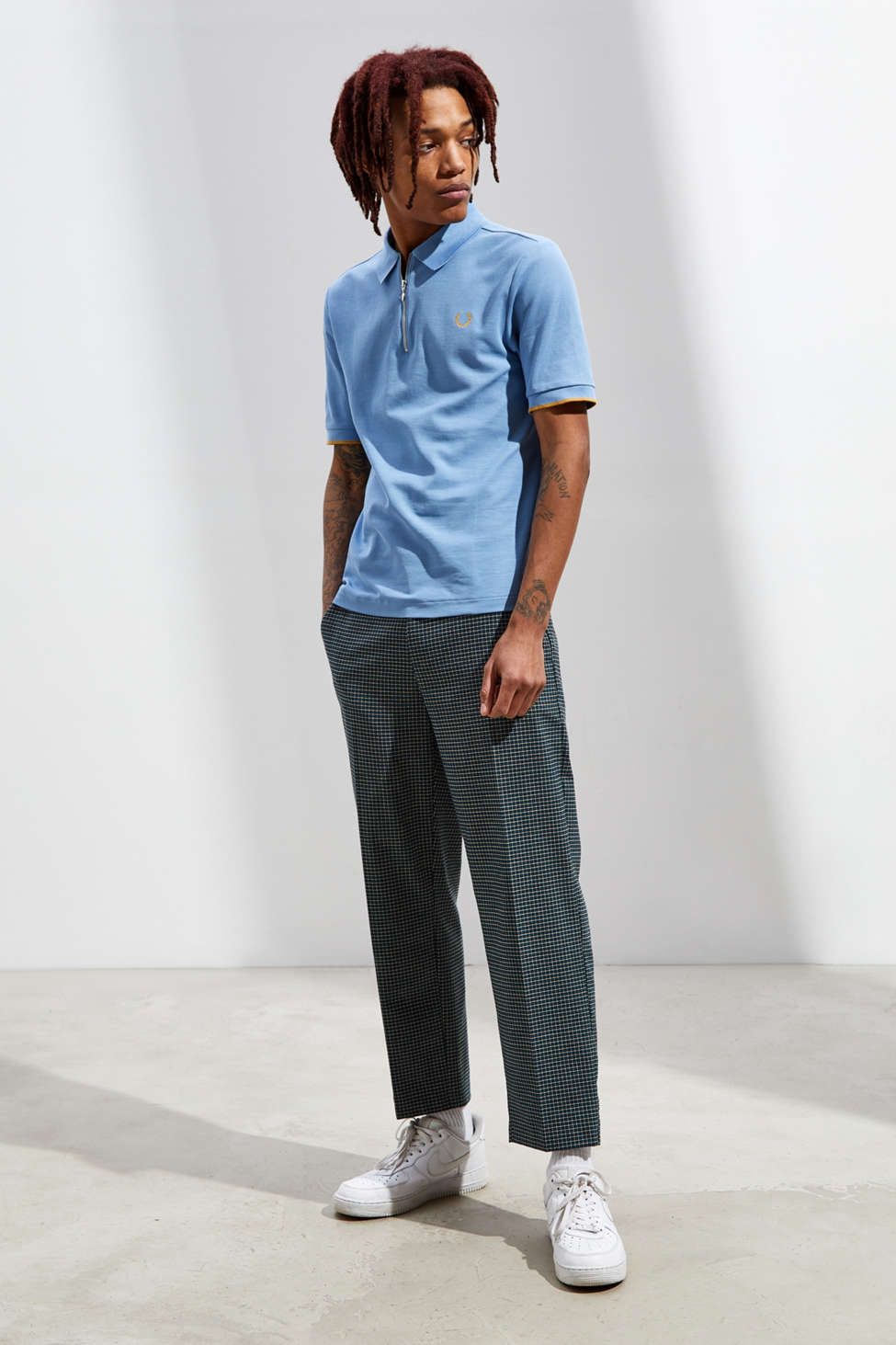 Fred Perry Miles Kane Zip Placket Pique Knit Polo Shirt by Fred Perry