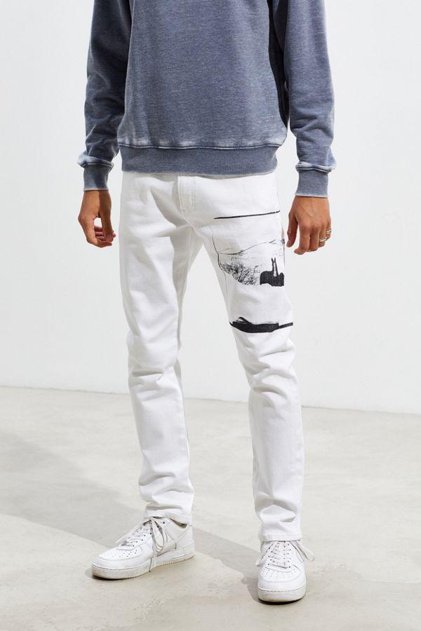 Shop für echte Luxus-Ästhetik zuverlässige Qualität Calvin Klein X Andy Warhol Horse Print Slim Jean