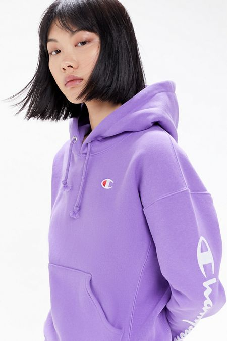 4989d278 Champion UO Exclusive Script Sleeve Hoodie Sweatshirt. Quick Shop