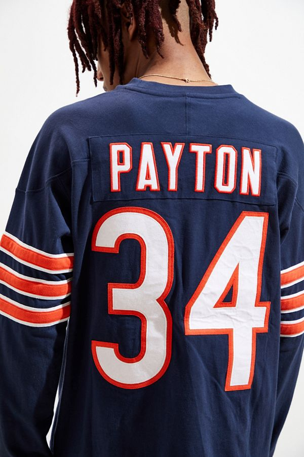size 40 39dae 7bb89 Mitchell & Ness Chicago Bears Walter Payton Long Sleeve Jersey Tee