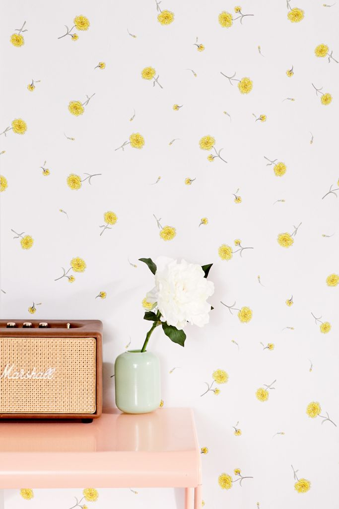 Amy Floral Removable Wallpaper Urban Outfitters