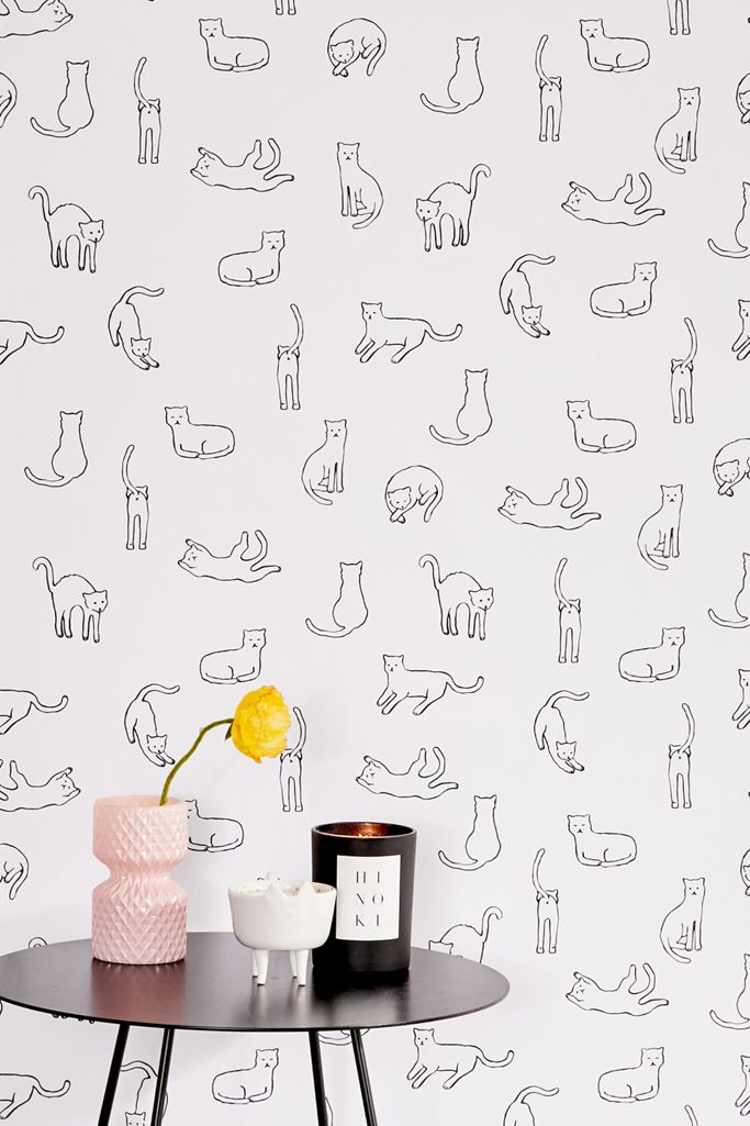 Cats Removable Wallpaper Urban Outfitters
