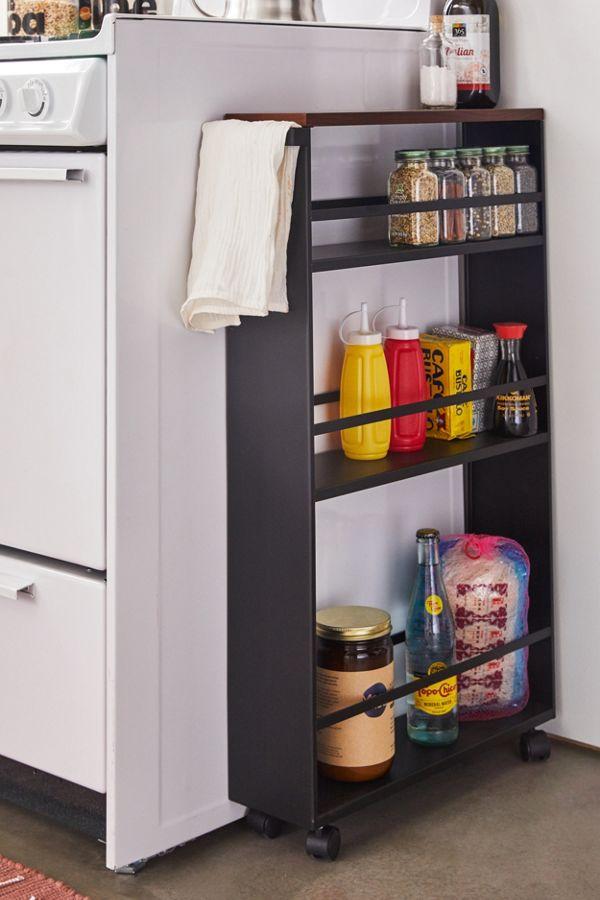 Slide View: 1: Rolling Kitchen Storage Cart