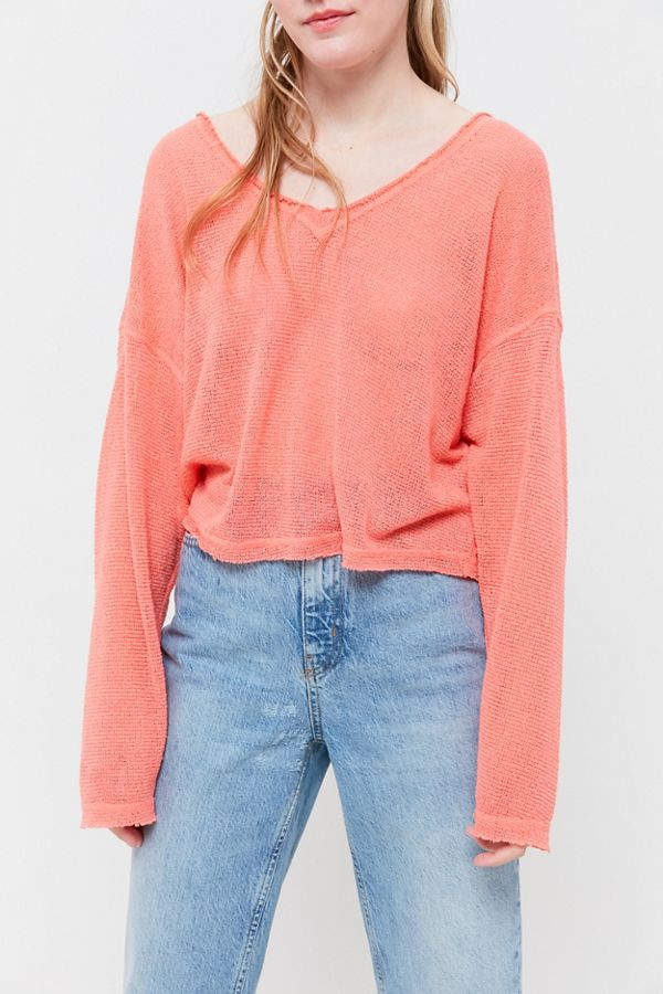 c87852d1ca71 Out From Under Logan Jersey Soft Slouchy Sweater | Urban Outfitters