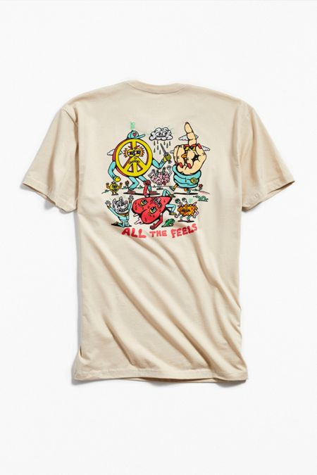 Betty Boop Mens Short Sleeve T-Shirt Natural Hello From Paradise Graphic Tee