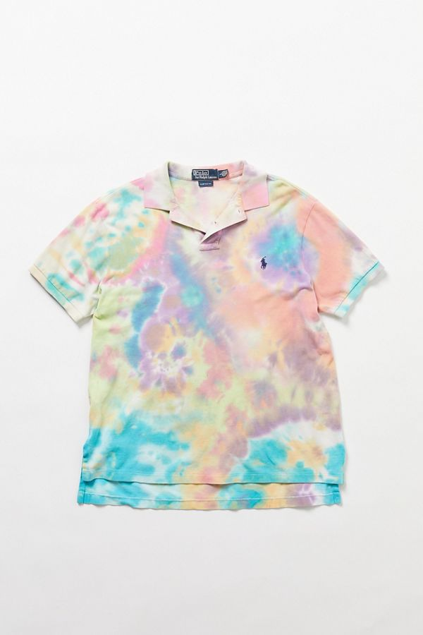 88024b6f9 Vintage Polo Ralph Lauren Pastel Tie-Dye Polo Shirt | Urban Outfitters