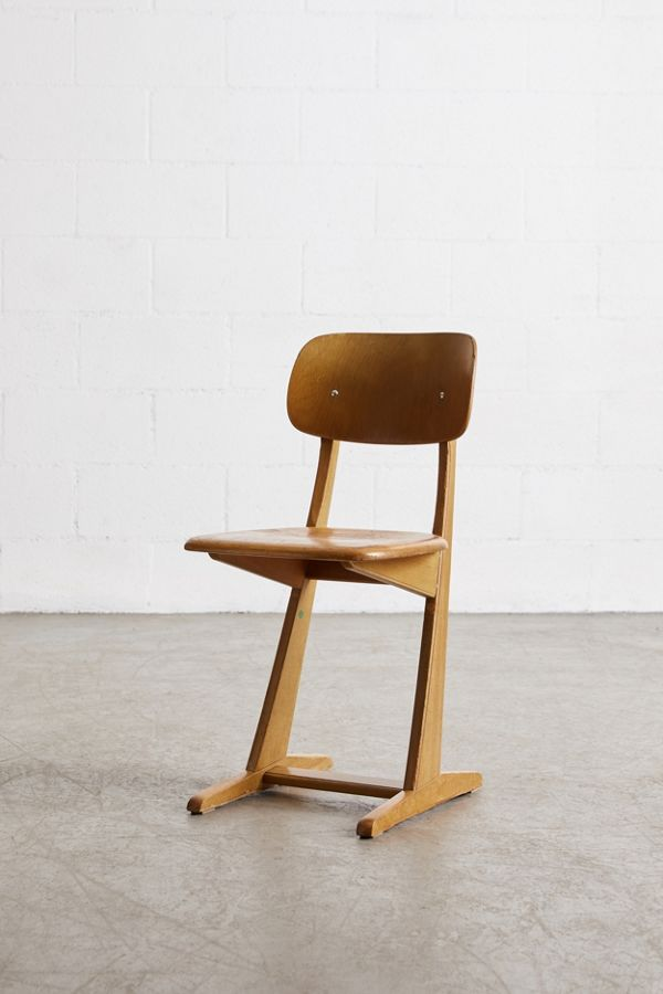 Vintage Wooden Chairs >> Urban Renewal Vintage Wooden School Chair Urban Outfitters