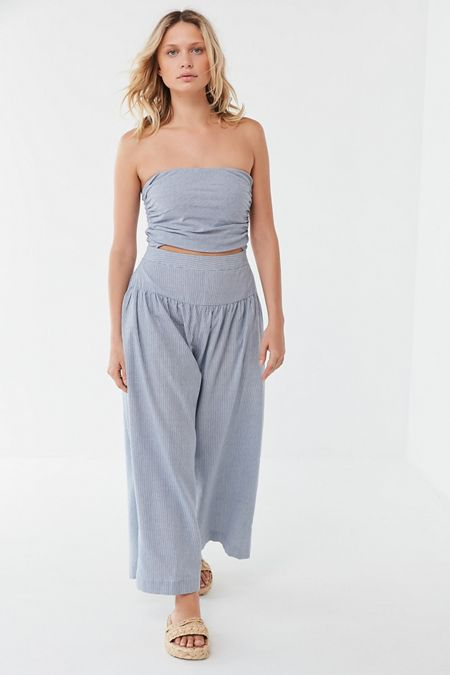 8cb1e2a492 UO Noah Cutout Strapless Wide Leg Jumpsuit. Quick Shop