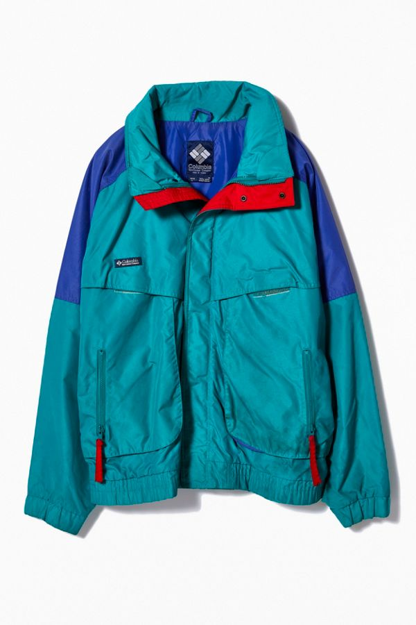 Vintage Columbia '80s Turquoise + Purple Ski Jacket