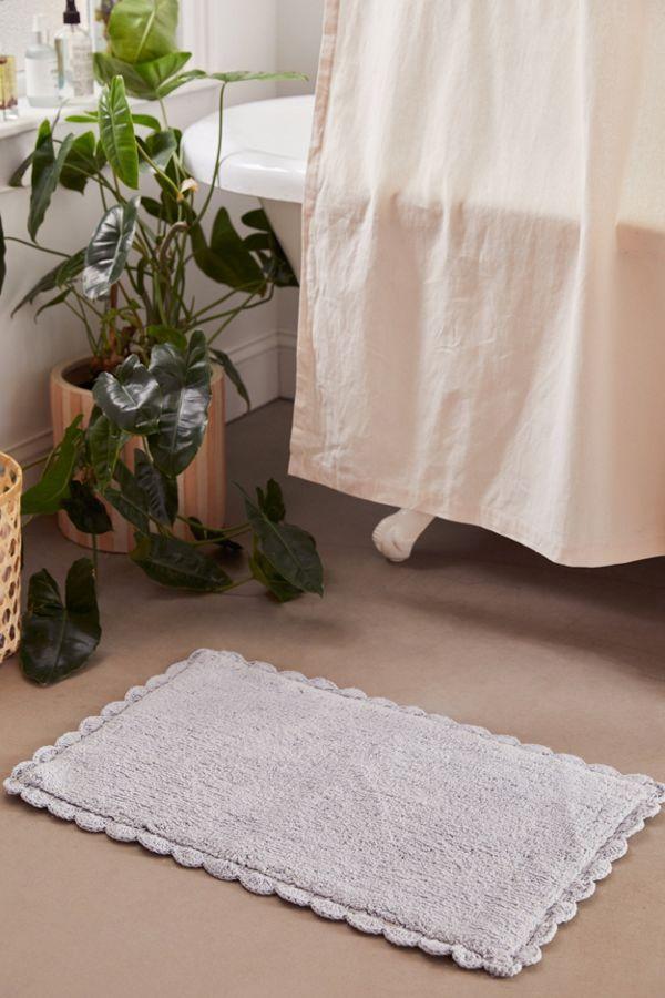 Slide View: 1: Crochet Trim Bath Mat