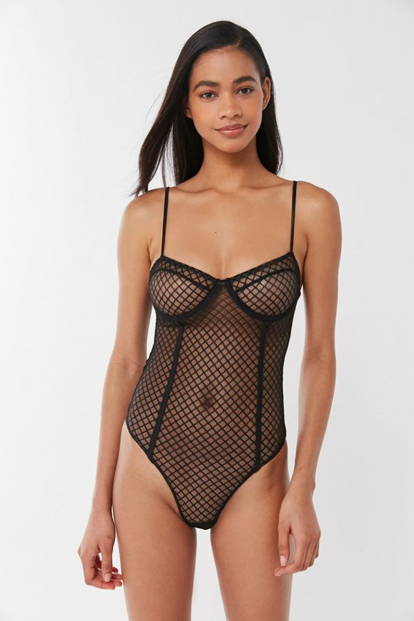 5fe75bd44dc72 Motel Yecal Sheer Mesh Underwire Bodysuit | Urban Outfitters