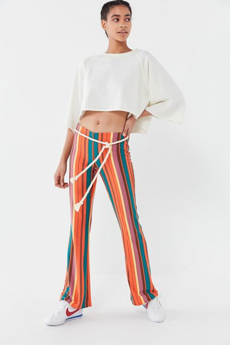 finest selection d0899 8837c UO Bali Striped Low-Rise Flare Pant