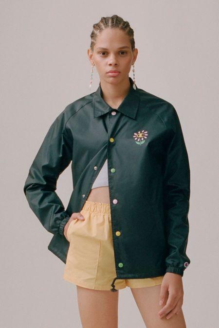 7ed0b7bd13 Champion X Susan Alexandra UO Exclusive Flower Coach Jacket