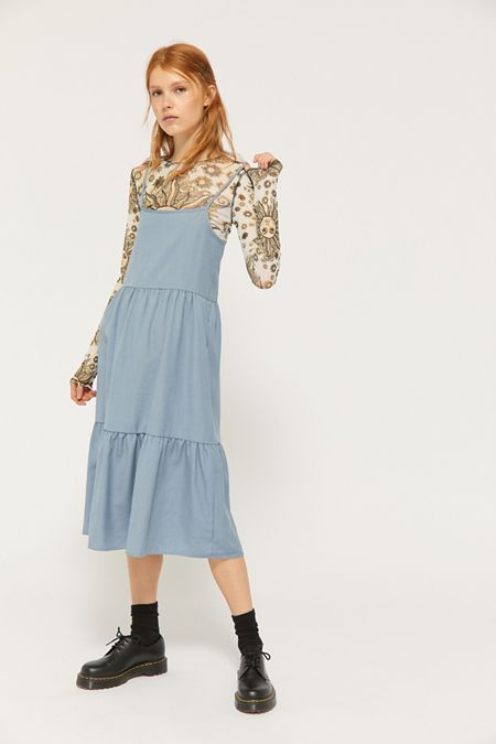da410c36b9 Urban Renewal Remnants Tiered Linen Midi Dress. Quick Shop