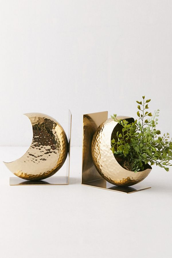 Slide View: 2: Crescent Moon Bookend Set