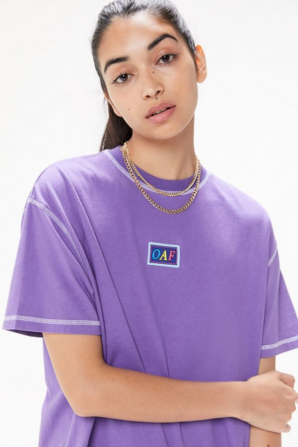 Lazy Oaf Contrast Stitch Logo Tee by Lazy Oaf