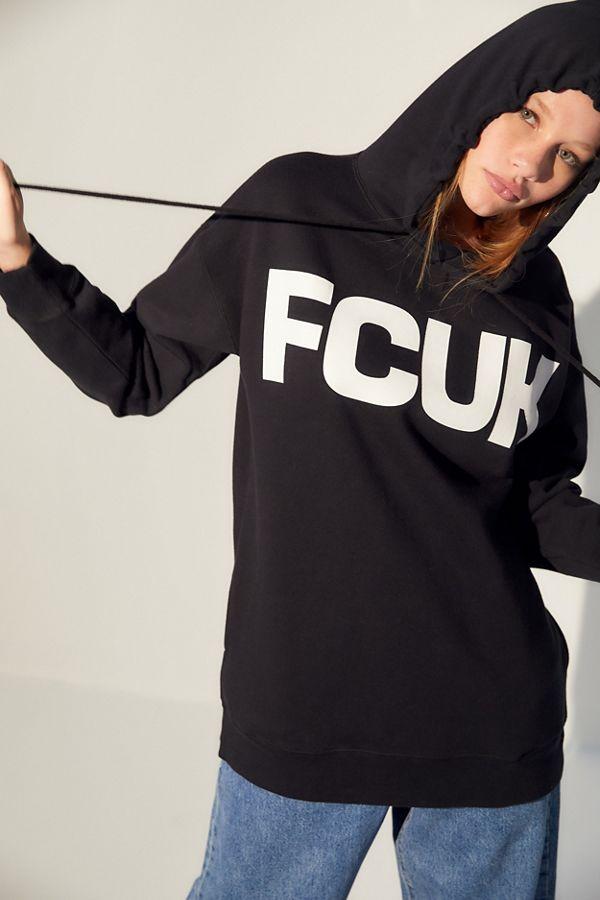 c33323b3e7c FCUK UO Exclusive Logo Hoodie Sweatshirt | Urban Outfitters