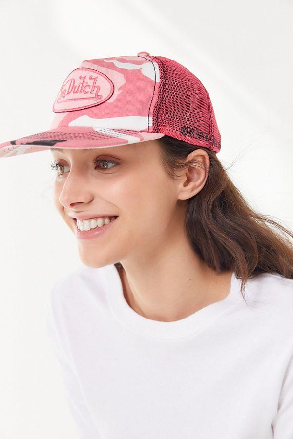 fdd01d3d5e0be Slide View  1  Von Dutch Pink Camo Trucker Hat