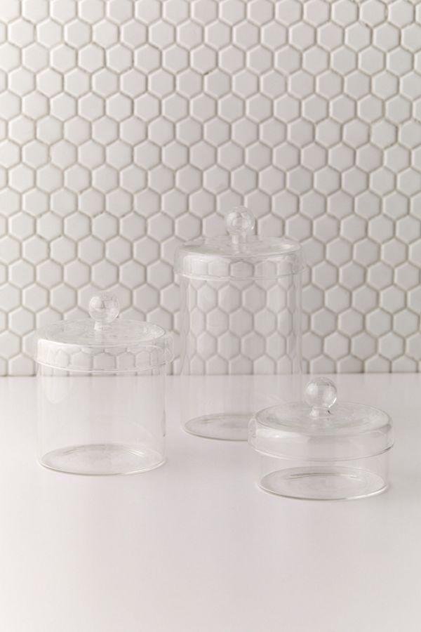 Slide View: 1: Glass Storage Jar