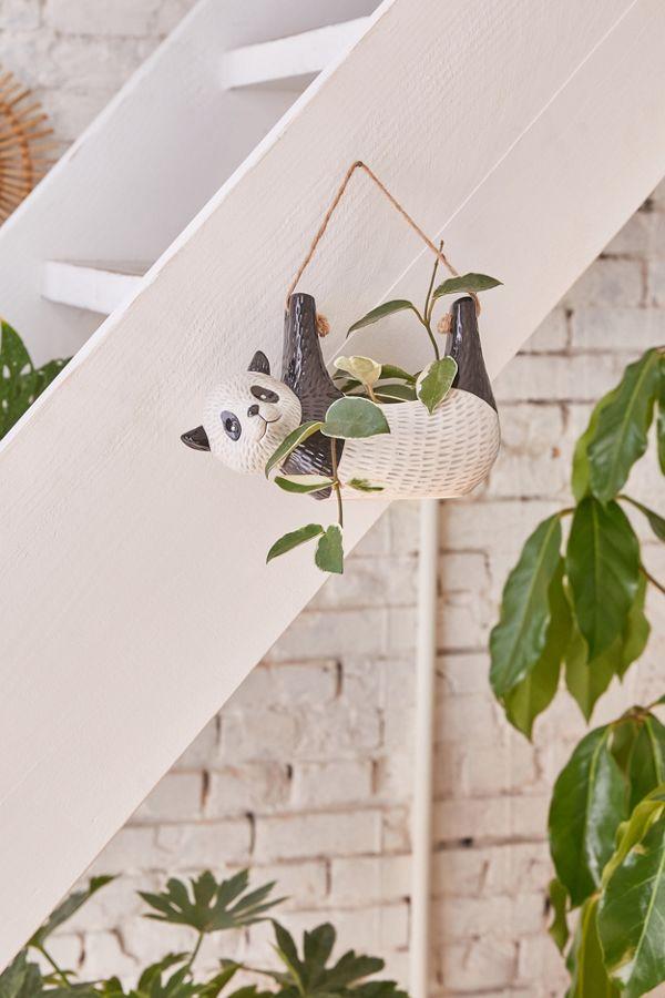 hanging panda planter