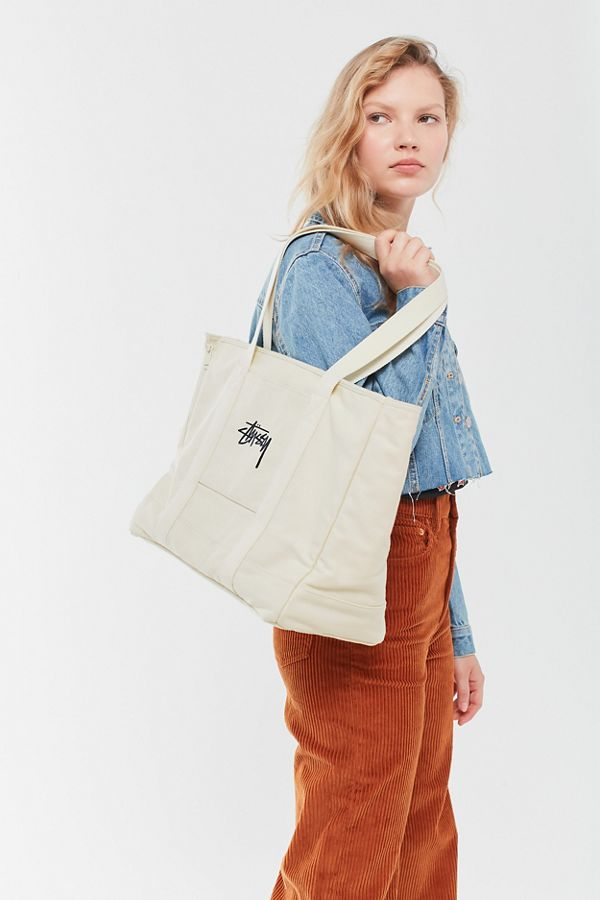 Stussy Stock Canvas Dog Tote Bag by Stussy