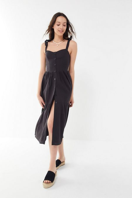 ac049b82e10 UO Positano Tie-Shoulder Midi Dress